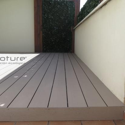 tarima composite terraza exterior