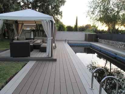 tarima exterior piscina y zona cenador