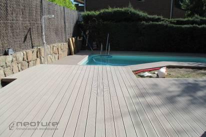 tarima madera exterior terraza color sand