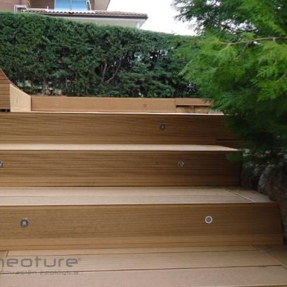 escaleras tarima sintetica terraza mamperlan