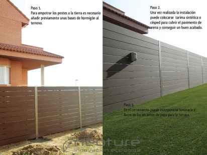 instalacion de cerramiento sintetico para exterior