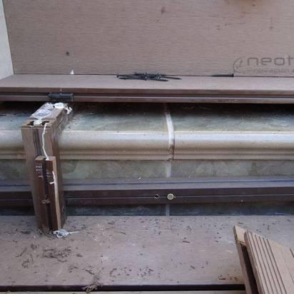 Instalacion tarima exterior tecnologica escaleras