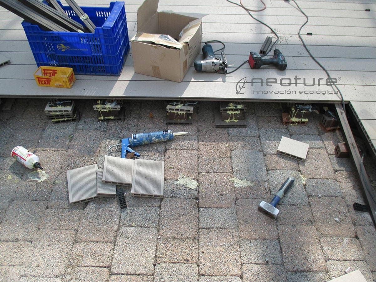 rampa tarima sintetica exterior sin mantenimiento