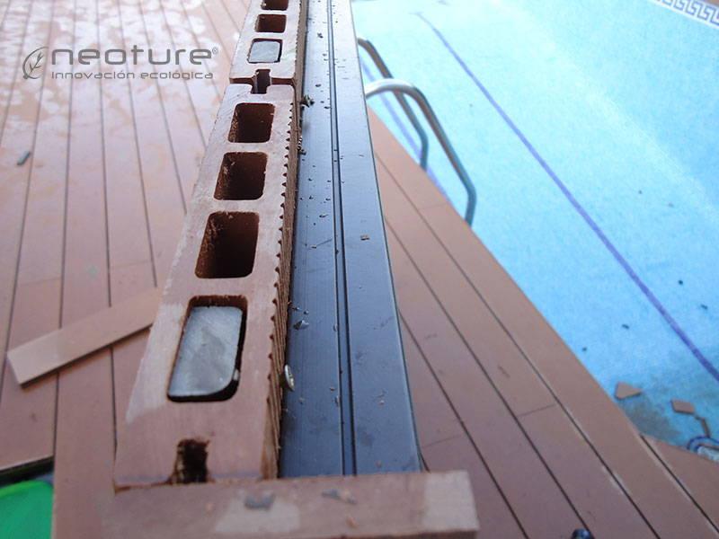 tarima composite piscina terminacion