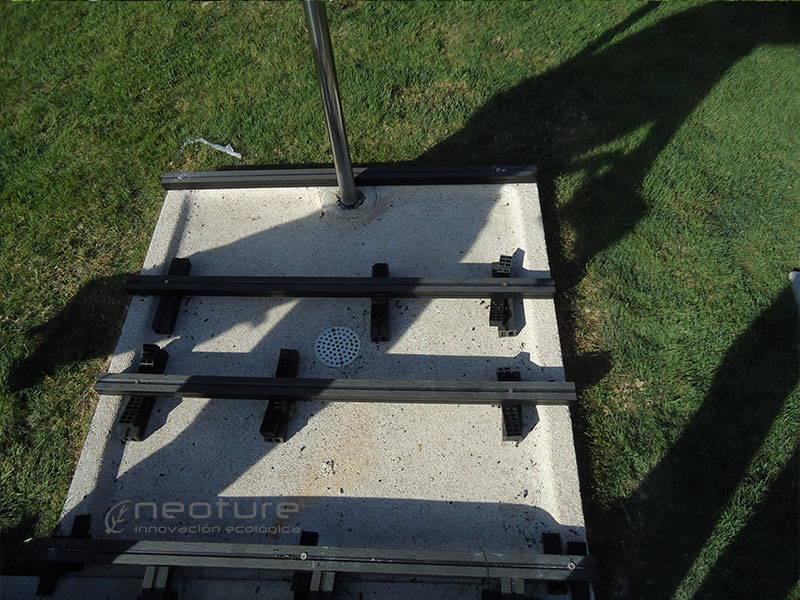 Colocacion de rastreles para instalar tarima exterior tecnologica