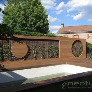 Tarima madera composite ipe piscina