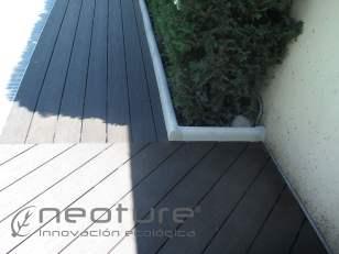 Tarima madera exterior composite jardin