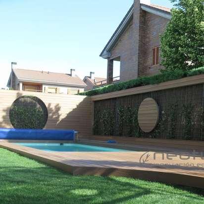 Tarima madera composite exterior para piscina