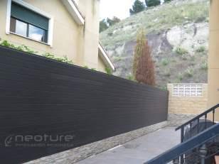 Vallado madera composite exterior neolack coffee veteado