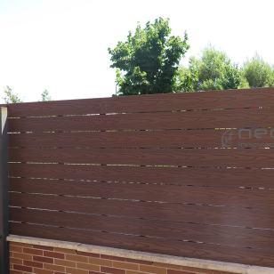 Valla madera tecnologica exterior neocros ipe