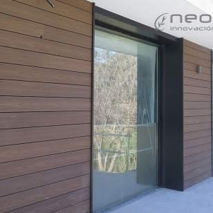 Revestimiento exterior pared en madera composite encapsulada