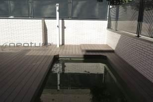 Tarima madera sintética exterior jardin y piscina