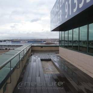 Tarima terrazas exteriores en ático