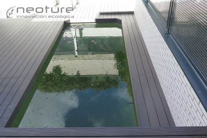 Tarima piscina exterior NeoMeck Coffee