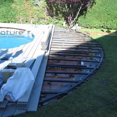 RASTRELADO. Instalación rastreles piscina.