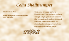 Celia Shelltrumpet biography