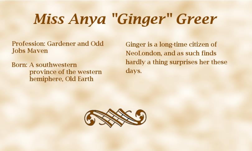 "Miss Anya ""Ginger"" Greer biography"
