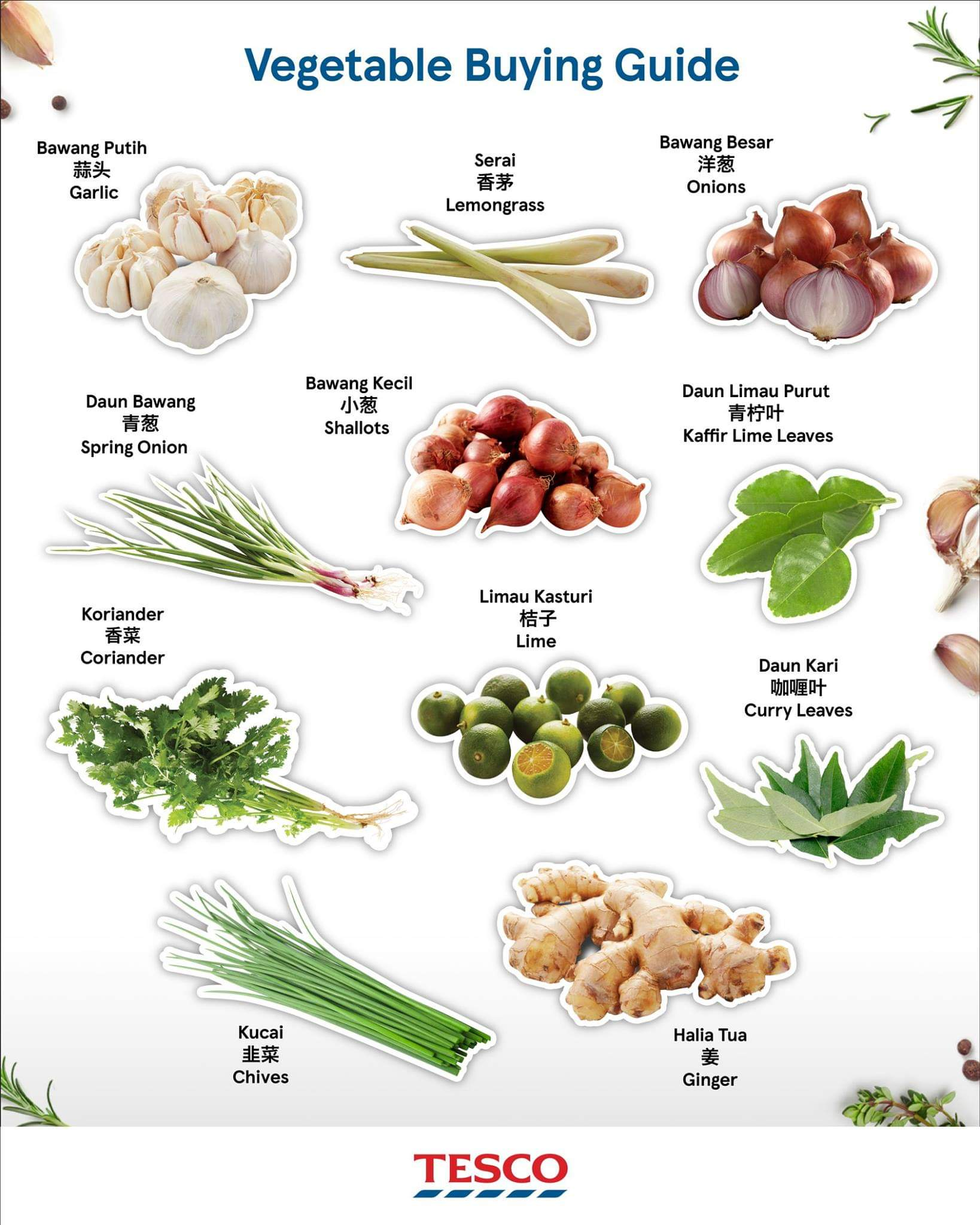 More Types of Vegetable
