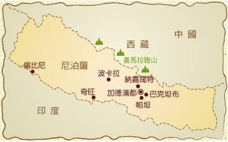 尼泊爾地圖 - NEPAL 尼泊爾 輕旅行