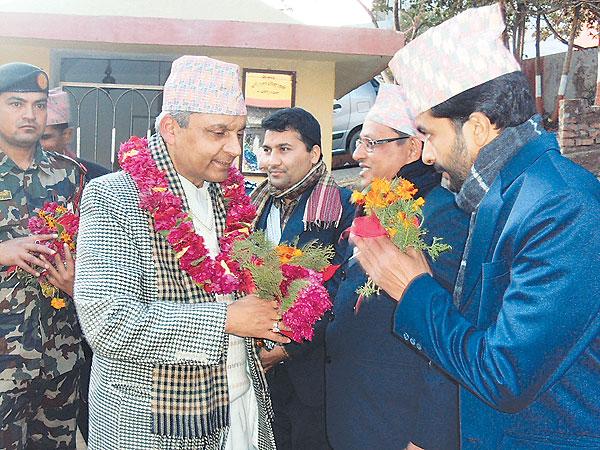 Khil Raj Regmi attending