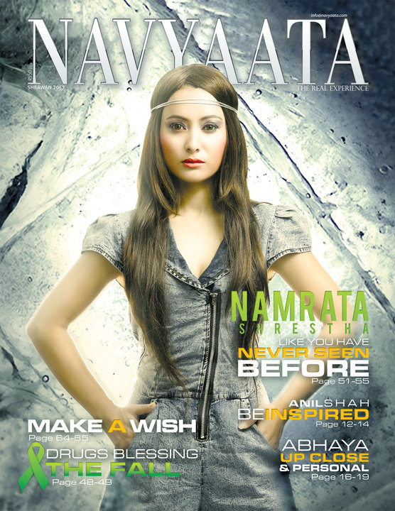 Namrata Shrestha on Navyaata Magazine Cover in 2010