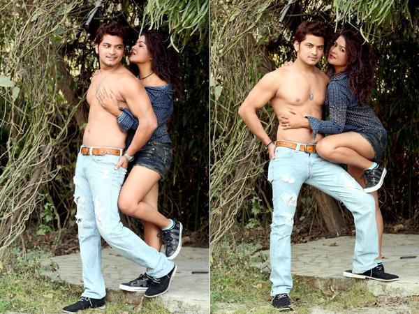 Sexy Rekha Thapa with Sabin Shrestha 1
