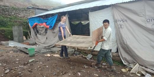 EWB student working hard at Kalinchok