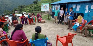 Mothers meeting about health and sanitation at Kalinchok