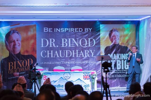Khagendra Nepali at Binod Chaudhary London Pradeep Singh Photo-1024