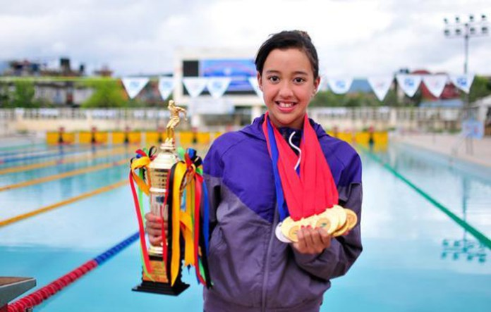 Gaurika Singh Top Swimmer in Nepal National Records