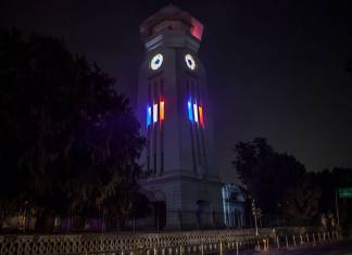 Ghantaghar Kathmandu solidarity with Paris 3