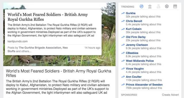 Gurkha news story from unauthentic source trending on Facebook