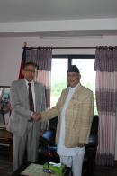 KP Sharma Oli With Indian Ambassador