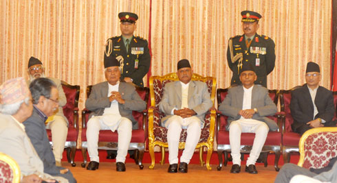 Khil Raj Regmi Sworn in as Prime Minister of Nepal