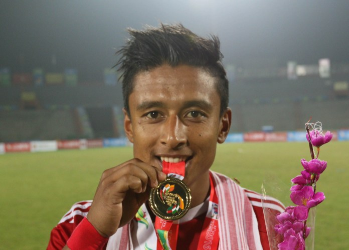 Nepali Player win Gold Medal in South Asian Games 2016