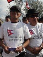 Nima Rumba and Yogeshwor Amatya at Nepal Unites Event