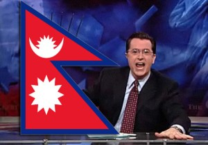 Stephen Colbert not honoring Nepal