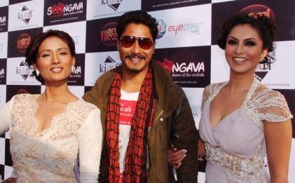 Actors of Soongava Nepali Movie at Premiere