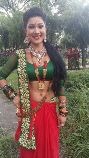 Dipasha BC Red Saree 2