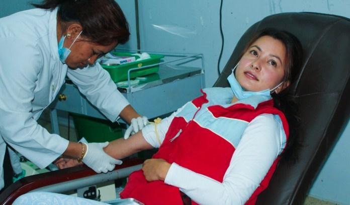 Namrata Shrestha Earthquake Relief Blood Donation
