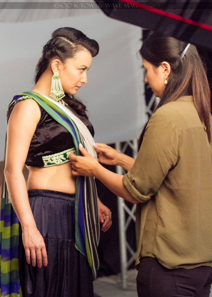 Namrata Shrestha Malvika Subba Wave Magazine behind shoot