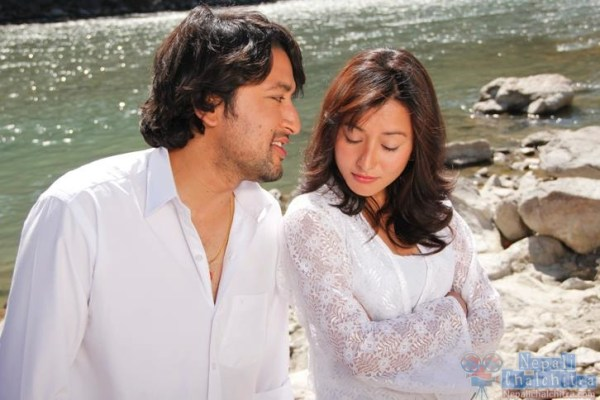 Namrata Shrestha and Raymon das shrestha in Megha Movie
