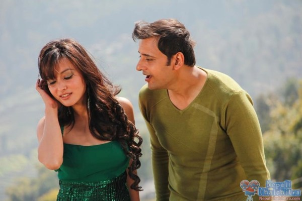 Namrata Shrestha and Siddhartha koirala in Megha Nepali Movie