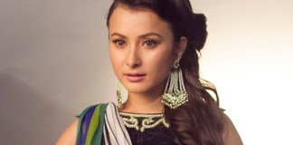 Namrata Shrestha behing Wave magazine shoot