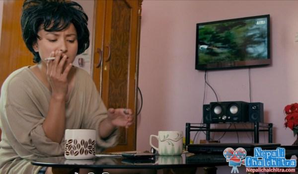 Namrata Shrestha smoke Chhadke Nepali Movie