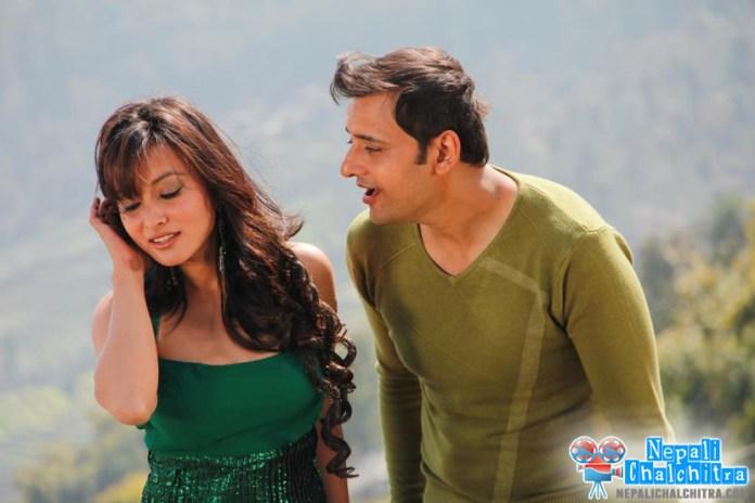 Namrata shrestha and siddhartha koirala in Megha Movie