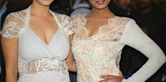 Nisha Adhikari and Diya Maskey at Soonga Movie Premiere
