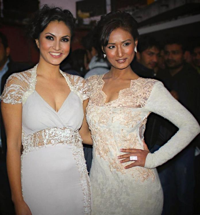 Nisha Adhikari and Diya Maskey at Soonga Movie Premiere
