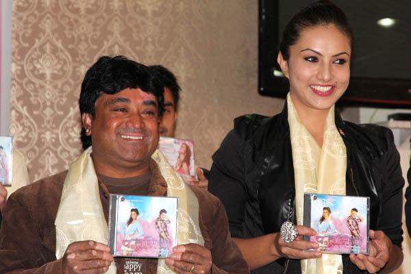 Nisha Adhikari at Padmini Nepali Movie Music Launch