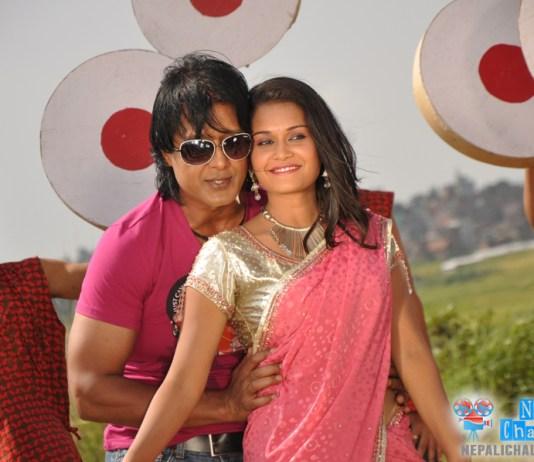 Rajesh Hamal in Look Geet with Reema Bishwokarma
